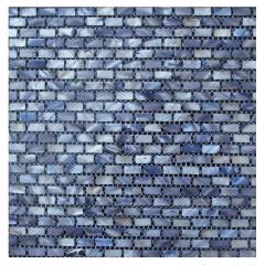 Strip bathroom design mother of pearl shell mosaic tile floor tile