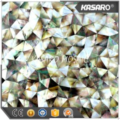 Rhombus Seashell Mosaic For Wall Decoration