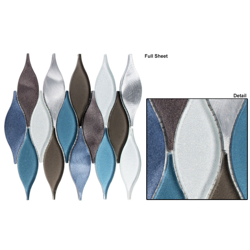 Wild Ocean Stone Glass Mosaic For Decoration