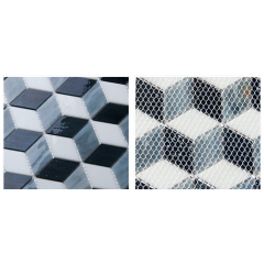 Wall Decor Backsplash Diamond  Ceramic Mosaic With Great Price