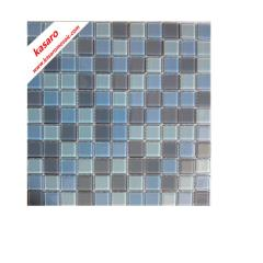 square grey blue and white self-adhesive glass mosaic tile for bathroom decoration