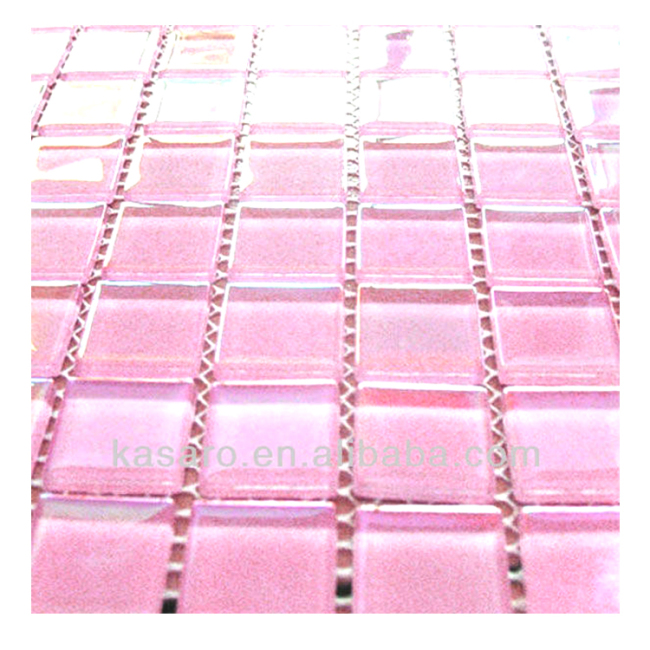 Hot Pink Glass Mosaic Tile , Hot Pink Mosaic Tiles , Pink Mosaic Tiles