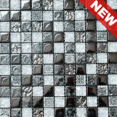 1 x 1 inch Fancy Glass Mix Stone Mosaic Home Decor (KGS20120086)