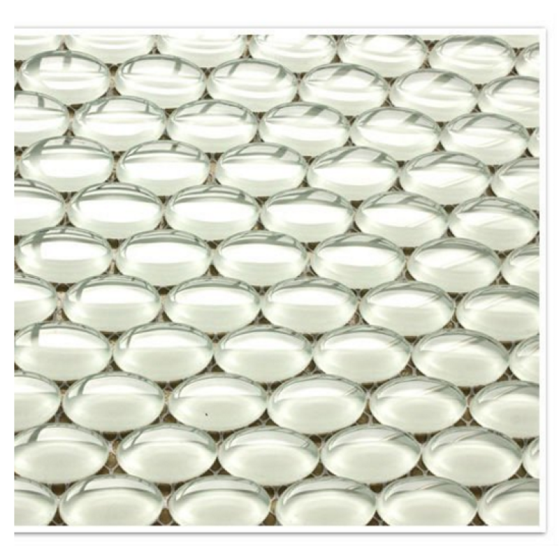 Hot Sale Glittering Crystal White Glass Pebbles