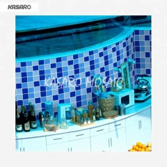 Swimming Pool Tile Blue Glass Mosaic Tile