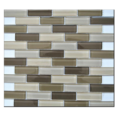 Wholesale Crystal Linear Glass Mosaic Tile Brick Mosaic Wall Tile Kitchen backplash Brick Glass Mosaic KY-ZR2013451