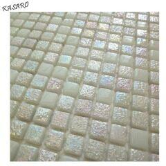 White glass mosaic tile backsplash wall mosaic