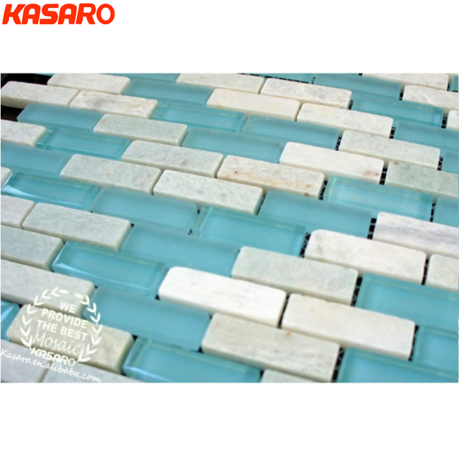 Factory Supply Hot Selling Blue Sky Glass Stone Bathroom Tile