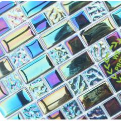 Iridescent Glass Mosaic Tile