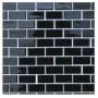 Wholesale black mosaic tiles, brick glass mosaic, black glass mosaic tile KG-B3014