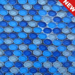 Swimming Pool Glass Pebbles Mosaic,Decorative Pebble Mosaic,Cheap Pebble Tiles (KG20130039)