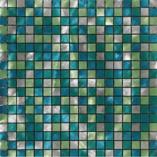 Metal stainless steel mosaic tile (ALUBRUSH-1,5 CM-53 PAINTED)