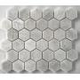New Style white marble hexagon mosaic tile