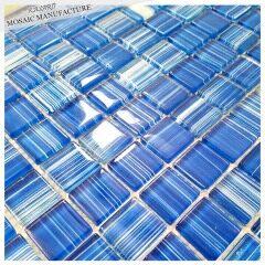 MS16274 blue lines pool tiles, swimming pool tile, cheap swimming pool tile