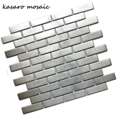 Wholesale Supply Stainless Steel Brick Mosaic Wall Tile