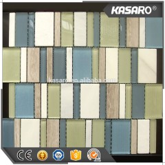 Pearl Oyster Glass Travertine Shell, Beige Color Modern Mosaic Tile, Bathroom Decor Ideas