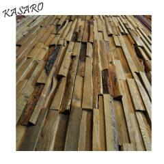 Wood mosaic wall art