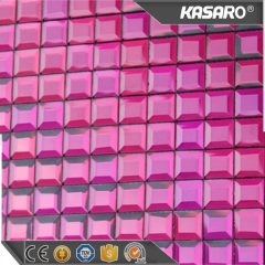 Purple Diamond Mirror Glass Backsplash Tiles Mosaic