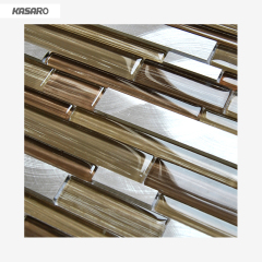 Brushed Strip Metal Mosaic Tile, Painting Mosaic For Sale, Hand Painting Glass Mosaic