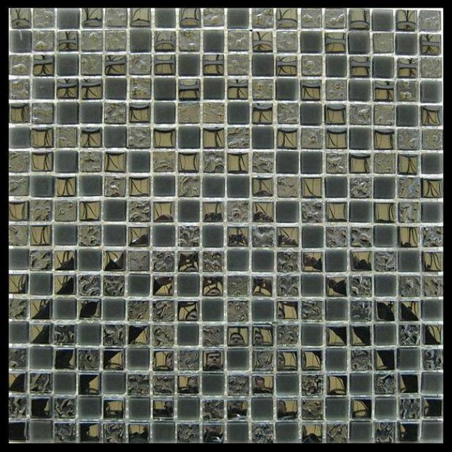 Glass mosaic tile 15x15,stained glass mosaic,metallic glass tile (KY-ZR2013492-2)