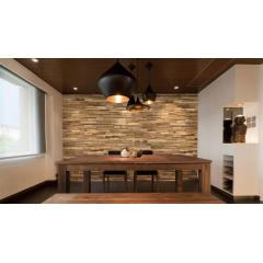Weathered 3D Solid Wood Wall Panel Interlock Wood Panels
