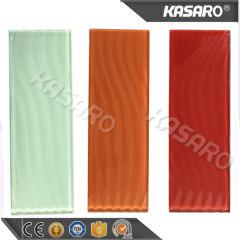 Orange Wall Mosaic 4x12 Glass Subway Tile