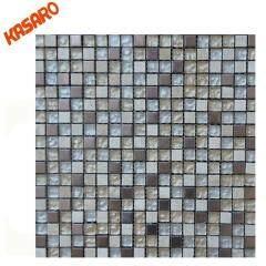 Stone Metal Mix Mosaic Tile Glass mix stone mosaic tile