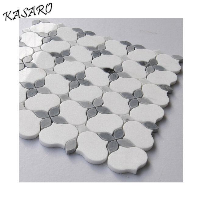 New Design White Lantern Stone Marble Mosaic Tile