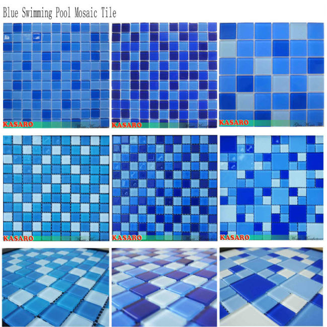 Blue Glass Mosaic for Pool Tiles (KSL-131043)