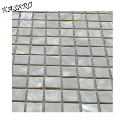 White Shell Material Mosaic Decorative Wall Panel