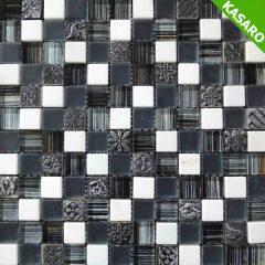 White Stone And Glass Painting Mosaic Art Pattern(KN-12110811)