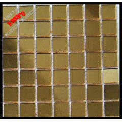 Gold color glass mirror mosaic tile , mosaic mirror (KY-ZR2013512)