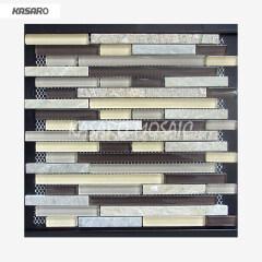 Wholesale Mosaic Tile Wall Strip, Strip Glass Stone Mosaic Tile, Tile Strip