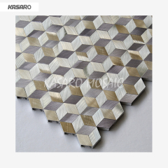 Rhombus Aluminum Mosaic Tile Metal Mosaic Wall Tile