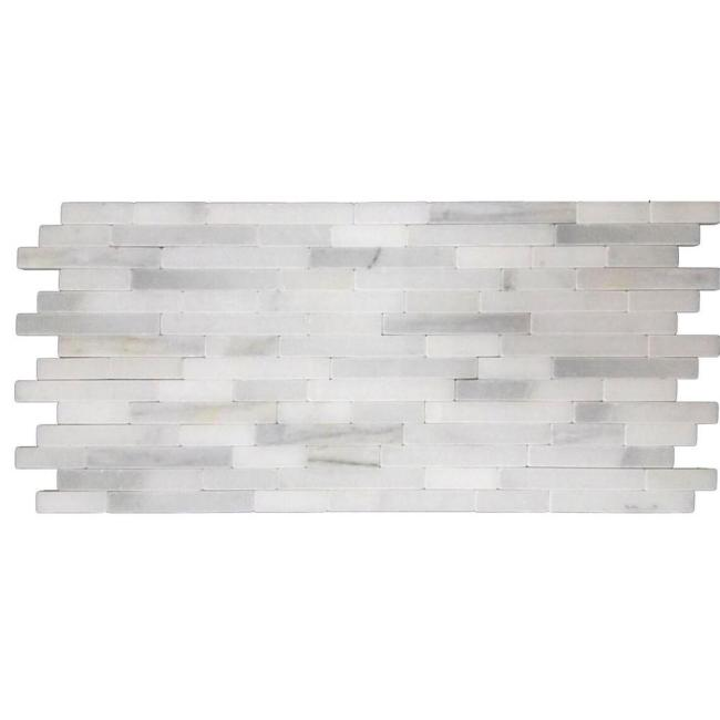 White Marble Mix Mosaic Wall Tile Home Decorative
