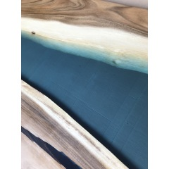 Solid wood table tops resin table factory discount price