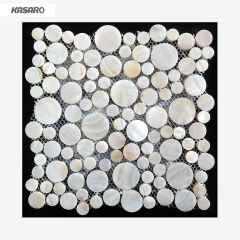 Wall Decor Penny Round Shell Mosaic Tile