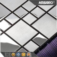 Yellow metal wall art decor stainless steel mosaic kitchen wall tiles