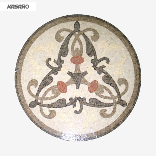 Round Mosaic Tile Medallion Marble Floor Design Pictures