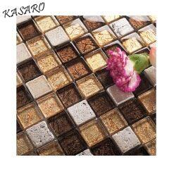 Waterproof wallpaper for bathrooms mosaic glass tiles
