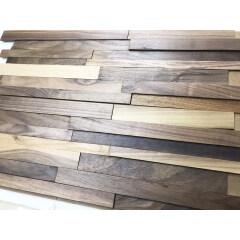 Wooden wall cladding Black Walnut  Wood Wall Panel Short Size