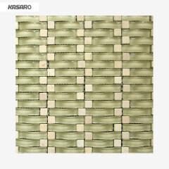 Wave Mosaic Tiles Vague Verre De Mosaique De Pierre