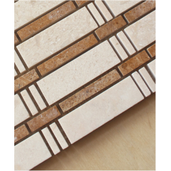brick mosaic subway tile white marble mosaic inlay brass mosaic tile