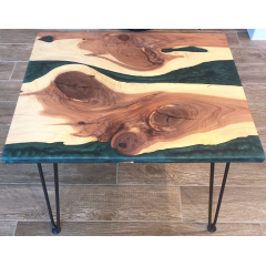 Unique Design Vintage furniture walnut wood river table clear epoxy resin wood table dining table