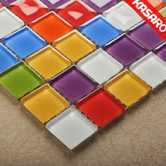 Tile For Swimming Pool, Colorful Glass Mosaic, Iridescent Glass Mosaic Tile