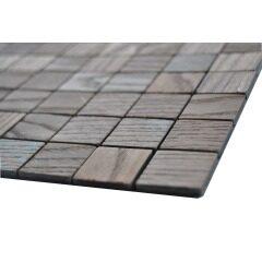 Wooden Effect Mosaic Wall Tile Aluminium Mosaic Tiles Peel And Stick Tiles