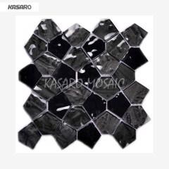 Pentagon Mosaic Tile Non-Slip Glass Floor Tiles