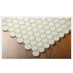Wall Decorative Accessories Frosted Round Glass Mosaic Kitchen Backsplash