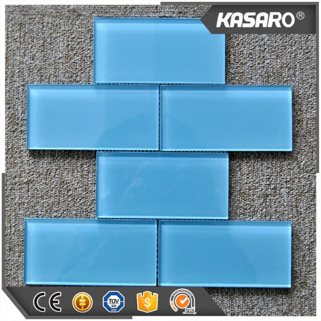 Blue Glass Tile Kitchen Backsplash, Brick Mosaic Wall Tile, Backsplash Tiles Wholesale
