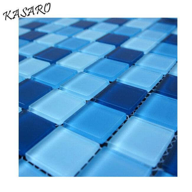 KSL-131046 Ocean Blue Mosaic Swimming Pool Tile